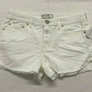 Free People Shorts NWT Womens Size 28 White